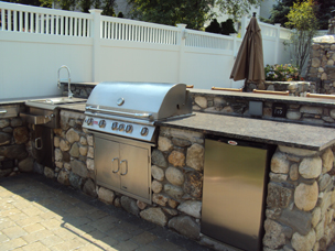 Custom Outdoor Cabinets For Big Green Egg, Gas Grills